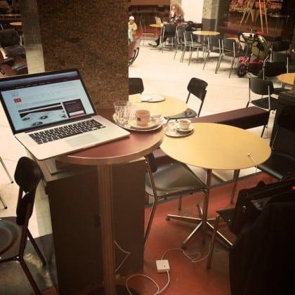Arbeiten im Café