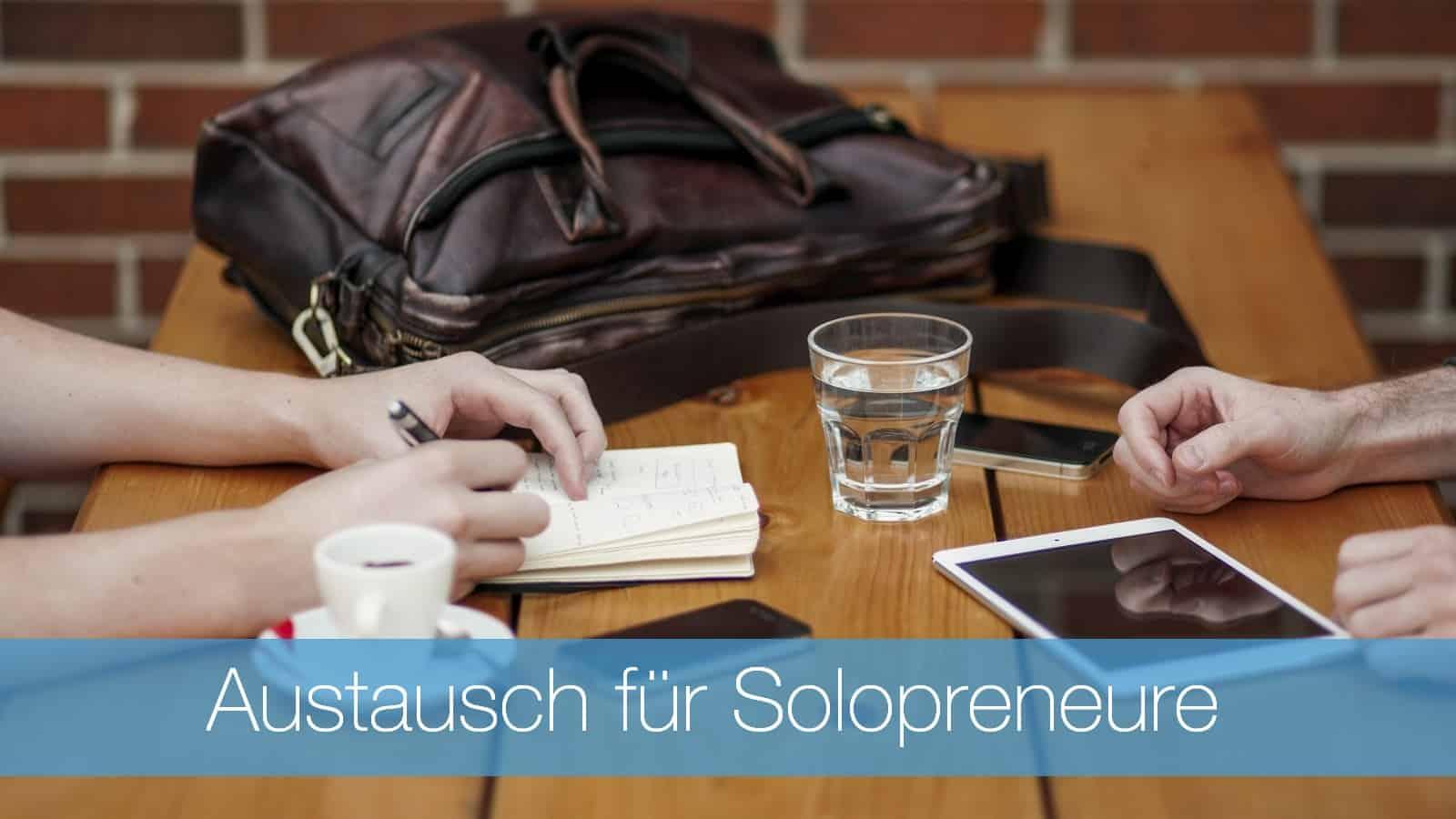 Austausch-Solopreneure