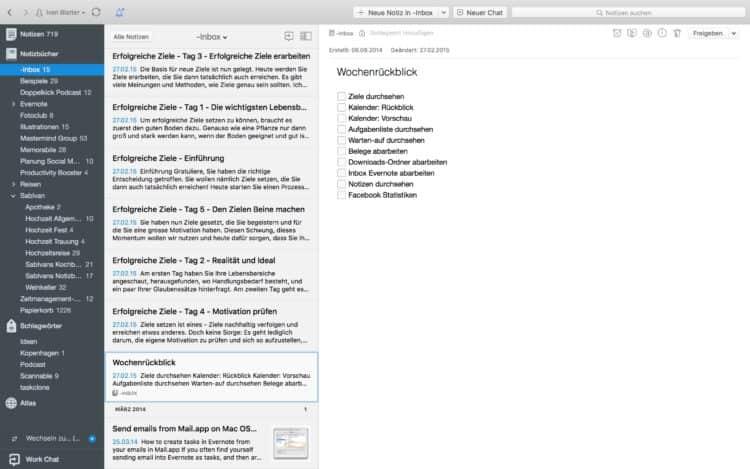 Evernote für Mac