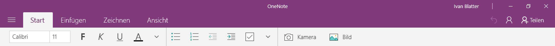 OneNote von Windows 10
