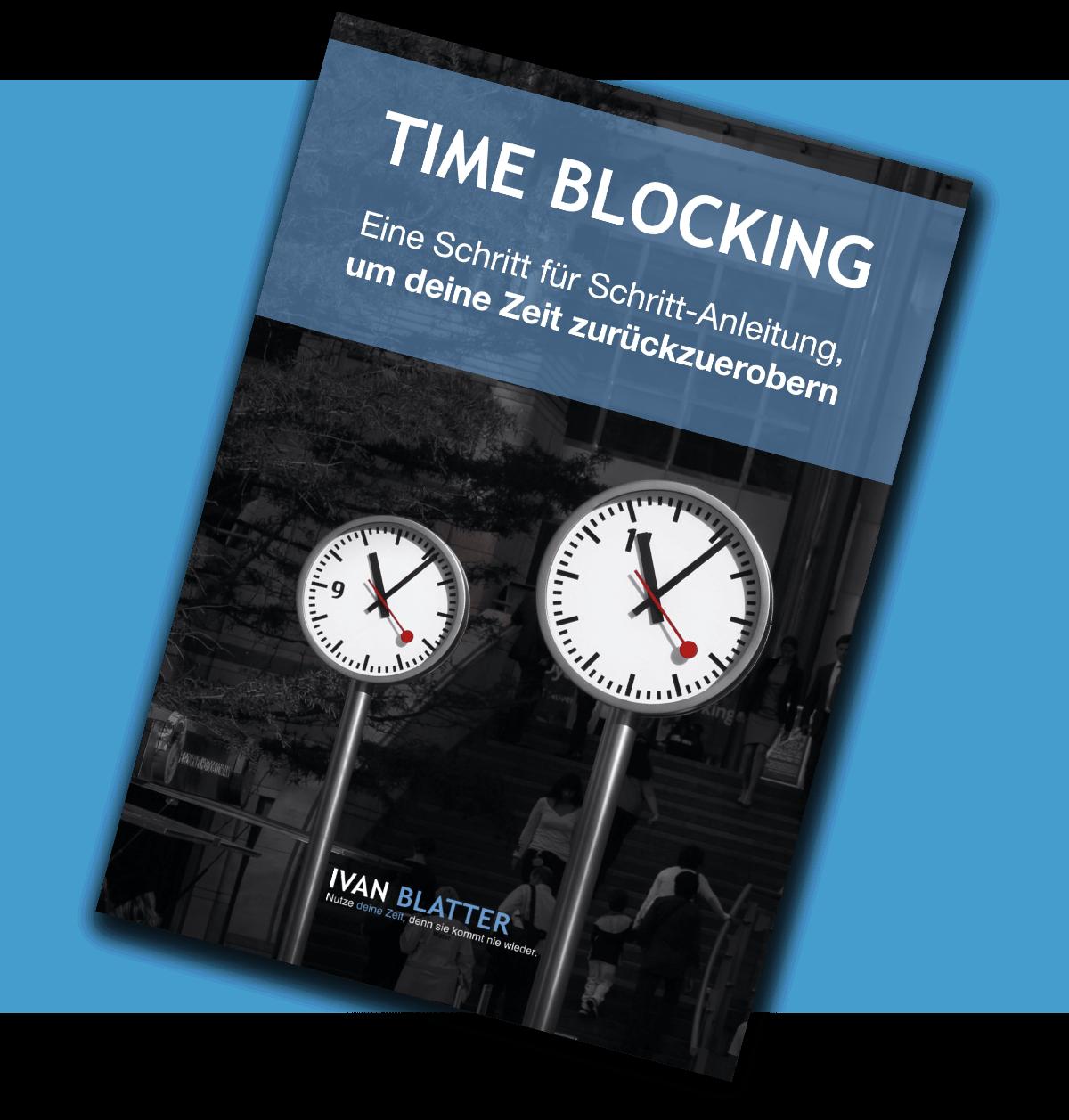 Pdf Time Blocking Blau Hell